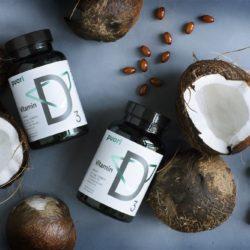 D3 Vitamin D3 mit kaltgepresstem Kokosöl 2500 IE – 120 Softgels